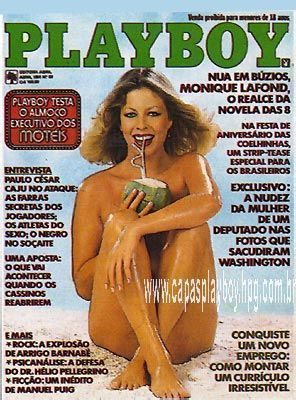 Monique Lafond pelada na playboy – Abril de 1981